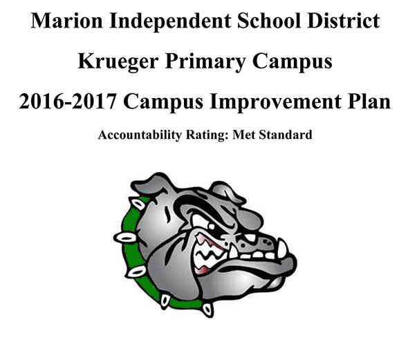 Krueger Primary Campus 2016-2017 Campus Improvement Plan